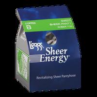 L'eggs Sheer Energy Pantyhose Sheer Panty Sheer Toe B Coffee