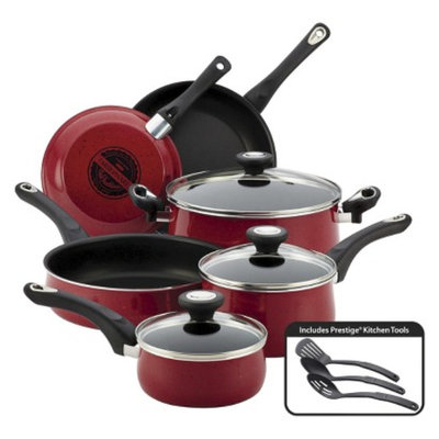 Farberware NT Farberware New Traditions 12 Piece Cookware Set - Red Speckled