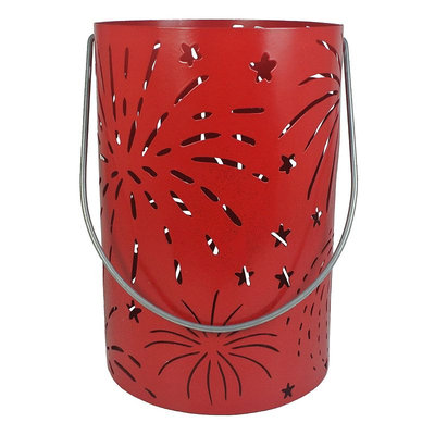 SONOMA Goods for Life™ Red Glitter Patriotic Hurricane Candle Holder