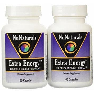 NuNaturals Extra Energy, The Quick Energy Formula, 60 Capsules (Pack of 2)