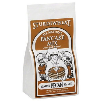 Sturdiwheat Pancake Mix Almond Pecan, 16-Ounce (Pack of 4)