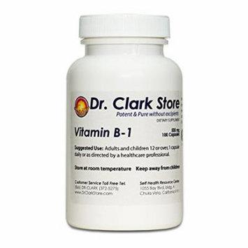 Dr. Clark Vitamin B1 Supplement, 500mg, 100 capsules