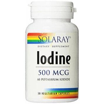 Solaray Iodine as Potassium Iodide Capsules, 500 mcg, 30 Count