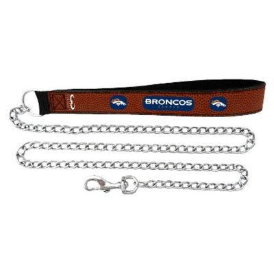 GameWear Denver Broncos Football Leather 2.5mm Chain Leash - M