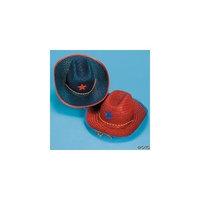 Oriental 1 DOZEN Child's Patriotic Cowboy Hats With Star