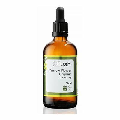 Fushi Yarrow Flower Organic Tincture 100ml, 1:2@25%, Certified Organic Biodynamic Harvested