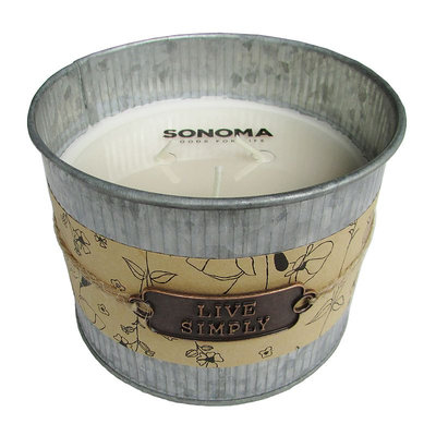 SONOMA Goods for Life™ Lavender Galvenized Tin Candle, Lt Purple