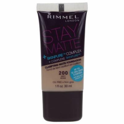 Rimmel Stay Matte Foundation #200 Soft Beige
