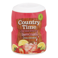 Country Time Strawberry Lemonade Sugar Sweetened Powdered Soft Drink Cannister