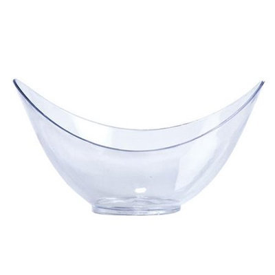 King Zak Ind Lillian Tablesettings 64560 Mini Clear Plastic Oval Bowl - 288 Per Case