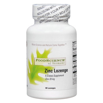 FoodScience of Vermont Zinc Lozenge 23 mg Dietary Supplement