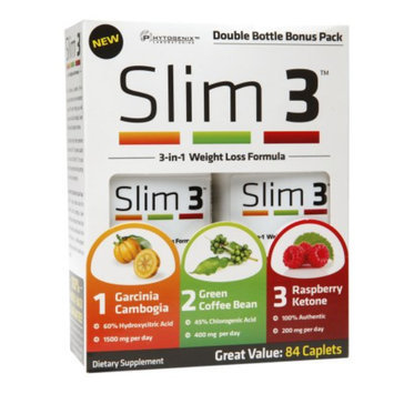 PhytoGenix Slim 3 3-in-1 Weight Loss Formula, Caplets