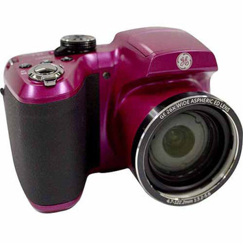 GE Refurbished Magenta Power PRO Series X2600-MK Compact System Digital Camera with 16.1 Megapixels, 26x Optical Zoom and 4.7mm-122.2mm Lens Included