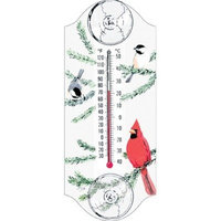 Aspects Classic Cardinal and Chickadee Window Thermometer