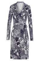 Printed Silk Wrap Dress Gr. US 8