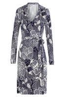 Printed Silk Wrap Dress Gr. US 8