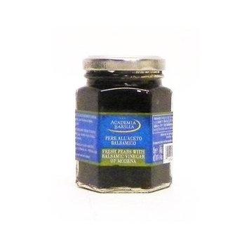 Academia Barilla Hand Cut Fresh Pears with Balsamic Vinegar of Modena Glass Jar, 4.4-Ounce