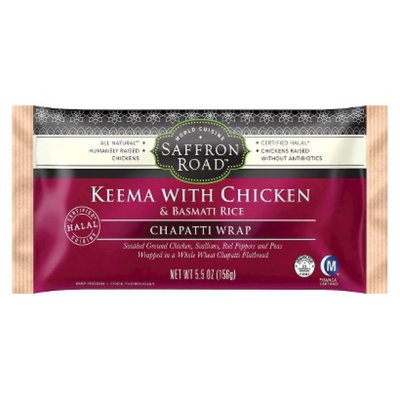 American Halal Company, Inc. Saffron Road Keema with Chicken Chapatti Wrap 5.5 oz