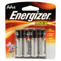 Energizer Max AA Alkaline Batteries, 4 pack