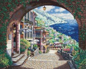 Other Dimensions Gold Collection Coastal View Counted Cross Stitch Kit
