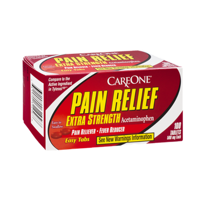 CareOne Pain Relief Extra Strength Easy Tabs Pain Reliever-Fever Reducer - 100 CT