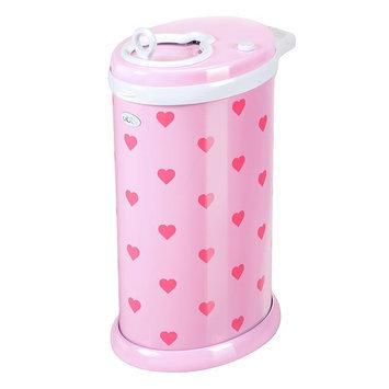 Ubbi Diaper Pail - Pink Hearts