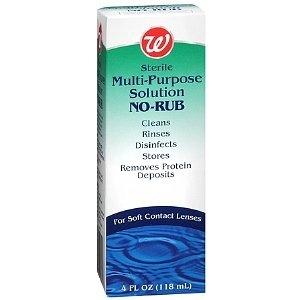 Walgreens Multi-Purpose No-Rub Contact Lens Solution 2 Pack