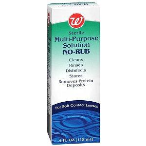Walgreens Multi-Purpose No-Rub Contact Lens Solution