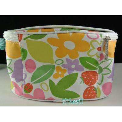 Clinique Colorful Original Flowers Pattern Makeup and Cosmetic Bag
