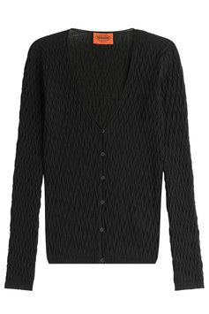 Missoni Crochet Knit Cardigan - black