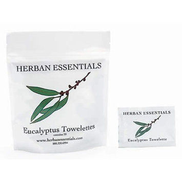 Herban Essentials Towelettes-Eucalyptus 20 Count