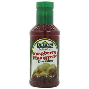Vidalia Brand Sweet Onion Raspberry Vinaigrette Dressing, 16-Ounce (Pack of 6)