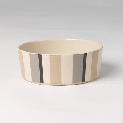 PetRageous Designs 4-Cup Metro Stripes Slow Feed Pet Bowl