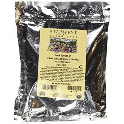 Starwest Botanicals Psyllium Seed Whole Organic, 1-Pound (Pack of 2)