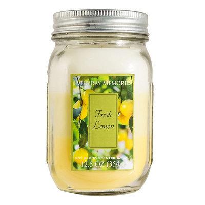 Kohls Everyday Memories 12.5-oz. Fresh Lemon (Yellow) Mason Jar Candle
