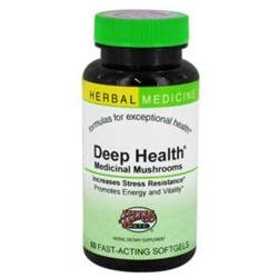 Herbs Etc - Deep Health Medicinal Mushrooms Alcohol Free - 60 Softgels