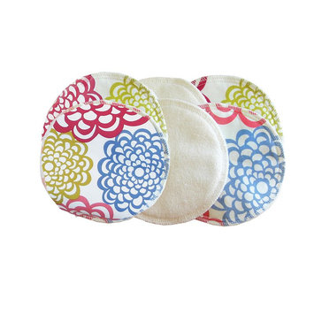 Itzy Ritzy Glitzy Gals 3-pk. Washable Nursing Pads, White Bloom