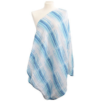 Babies R Us Itzy Ritzy Nursing Happens Muslin Infinity Breastfeeding Scarf - Blue Horizon