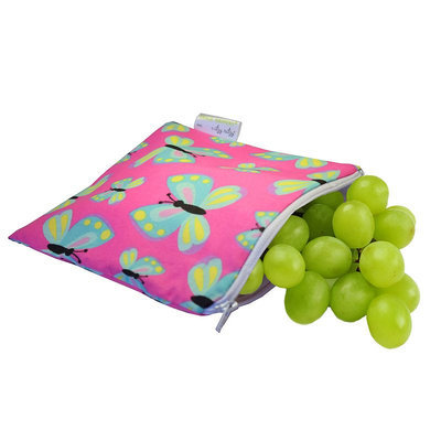 Itzy Ritzy Snack Happens Reusable Snack and Everything Bag Social Butterfly - Itzy Ritzy Diaper and Baby Accessories