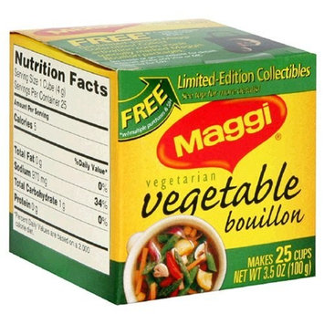 Maggi Vegetable Bouillon Cubes, 25-Count Boxes (Pack of 24)