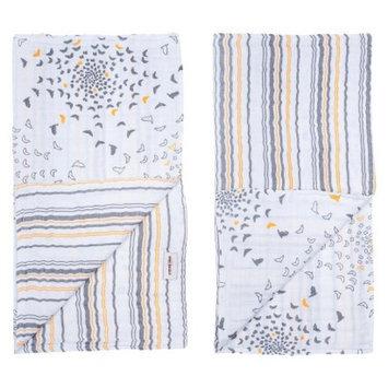 Bebe Au Lait Bebe au Lait Muslin Swaddle Blankets 2pk-Sparrow/Vintage