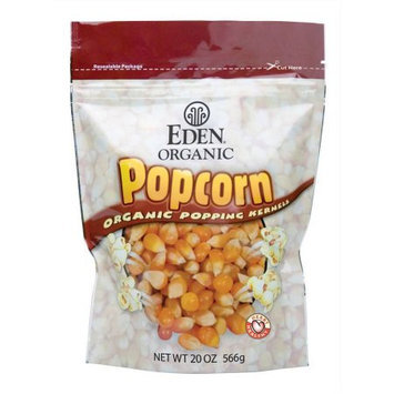 Eden Organic Eden Popcorn, Yellow, Organic, 20 Ounce (Pack of 6)