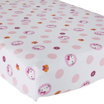 Lambs & Ivy Hello Kitty Garden Crib Fitted Sheet