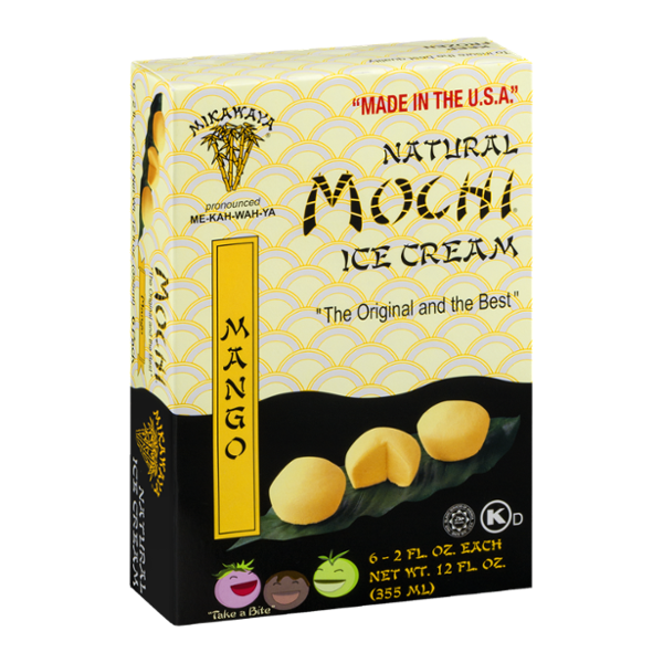 Mikawaya Mochi Ice Cream Mango - 6 CT