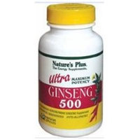 Nature's Plus Ultra Ginseng 500 (Maximum Potency) 500 MG - 60 Capsules - Other Herbs