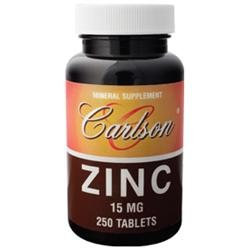Carlson Laboratories Zinc 15 mg, 250 Tablets, Carlson Labs