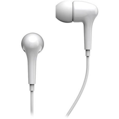 Genius GHP-206 Earphone - Stereo - White - Mini-phone - Wired - 16 Ohm - 20 Hz 20 kHz - Earbud - Binaural - In-ear - 3.94 ft Cable