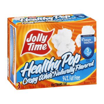 Jolly Time Healthy Pop Microwave Popcorn Crispy White - 3 CT