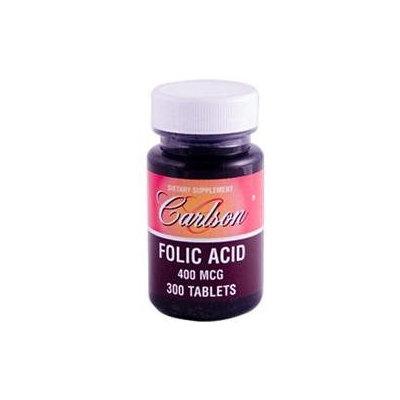 Carlson Laboratories Folic Acid 400 MCG - 300 Tablets - Folic Acid