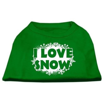 Ahi I Love Snow Screenprint Shirts Emerald Green Lg (14)
